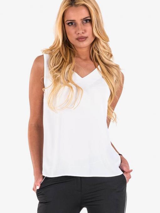 Елегантен бял дамски топ 30485 INDIGO Fashion