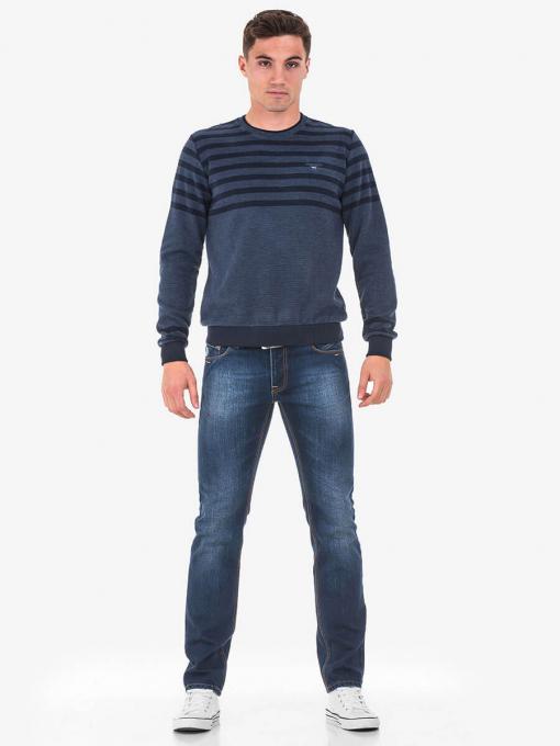 Мъжка блуза синя 29067 INDIGO Fashion