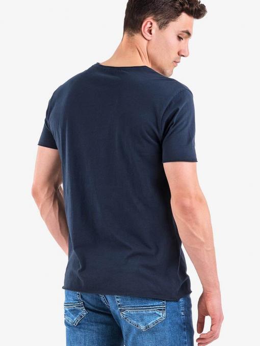 Мъжка тениска XINT 722 INDIGO Fashion