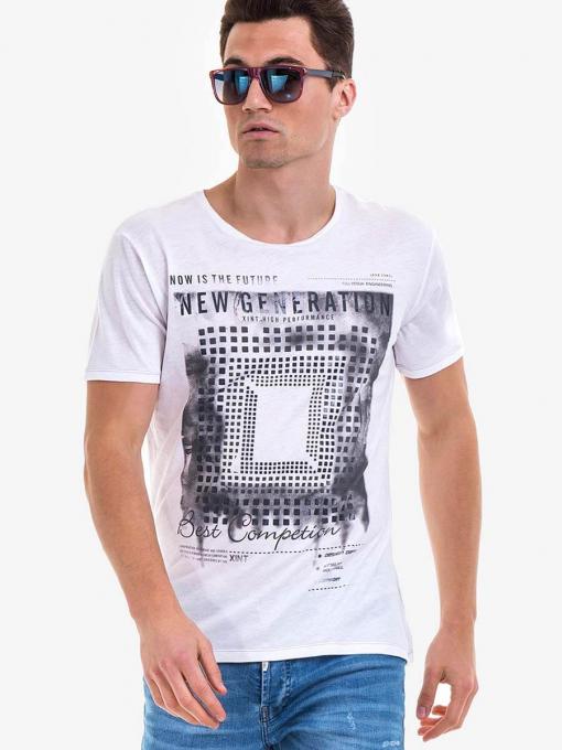 Мъжка тениска XINT 775 INDIGO Fashion