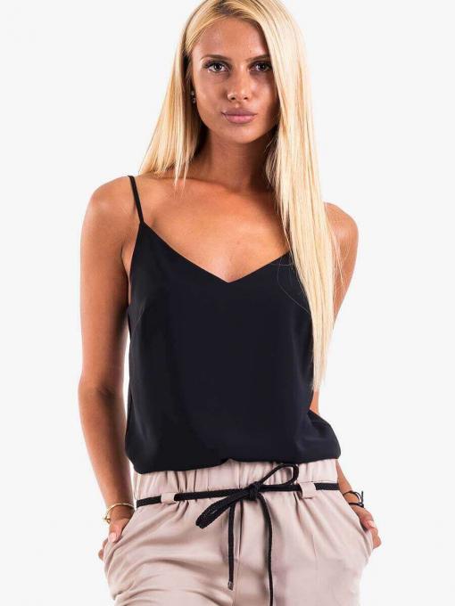 Дамски елегантен топ - черен 12632 INDIGO Fashion