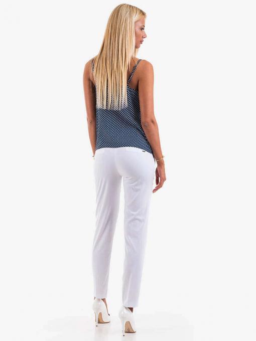 Елегантен дамски топ на точки - син 12688 INDIGO Fashion
