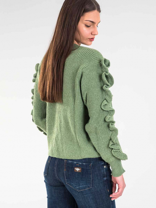 Зелена дамска блуза 2088 INDIGO Fashion