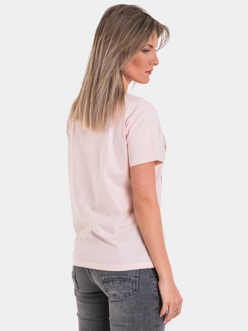 Розова дамска тениска 7238 INDIGO Fashion