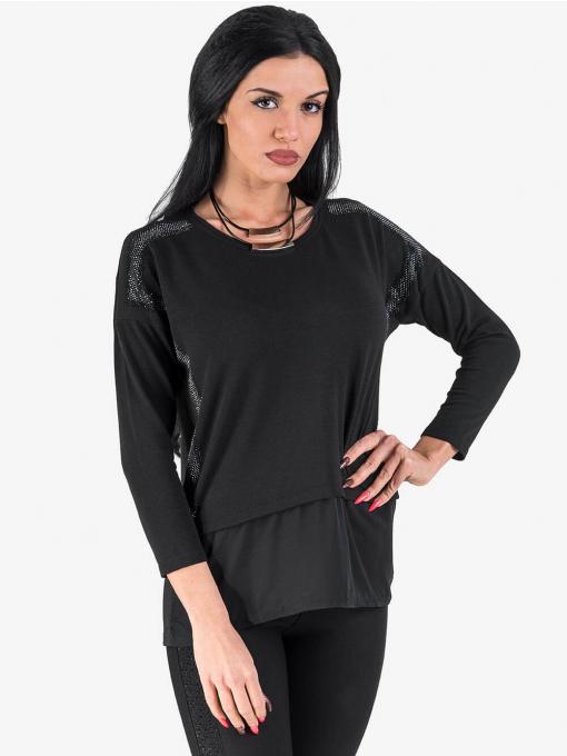 Двуредно късо дамско колие - черно 9716 INDIGO Fashion