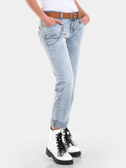 Бойфренд дамски дънки 6062 INDIGO Fashion