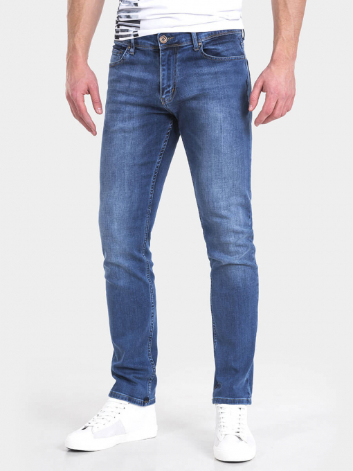 Слим фит мъжки дънки 9170 INDIGO Fashion