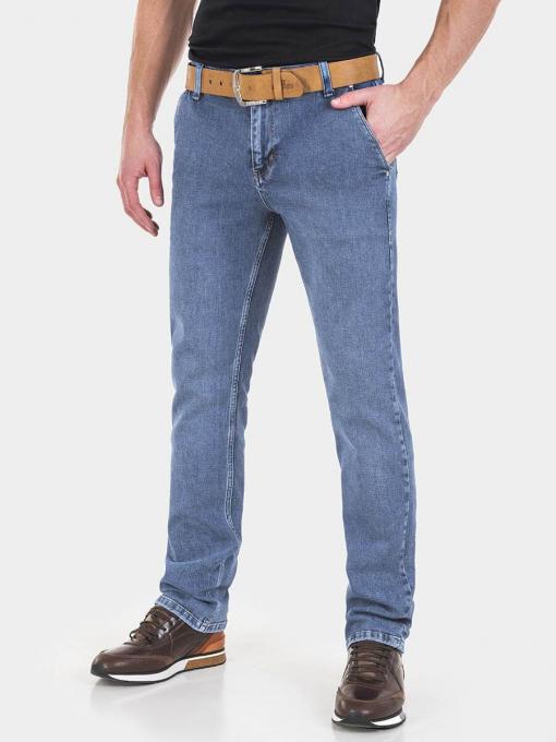Прави мъжки дънки Ronney 6210  INDIGO Fashion