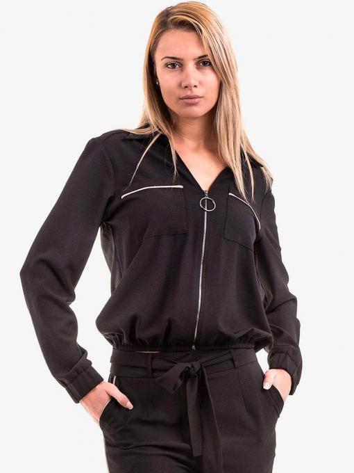 Дамско яке с цип ZANZI 17100 INDIGO Fashion
