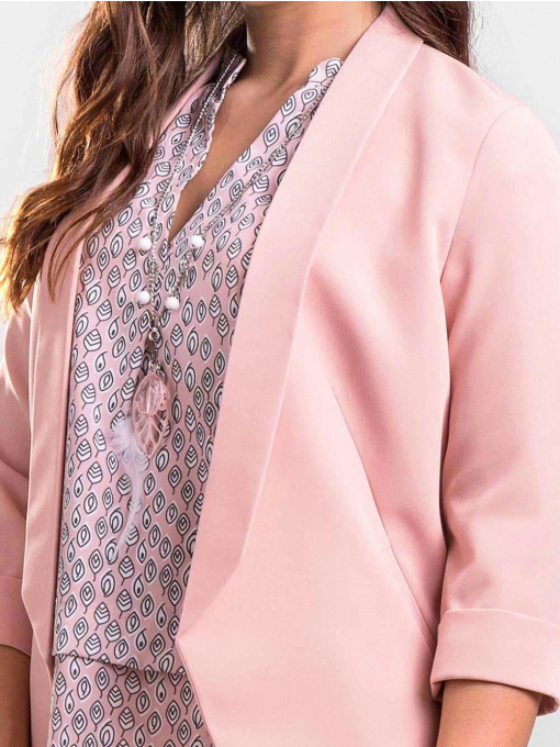 Елегантно дамско сако без закопчаване B1185 INDIGO Fashion