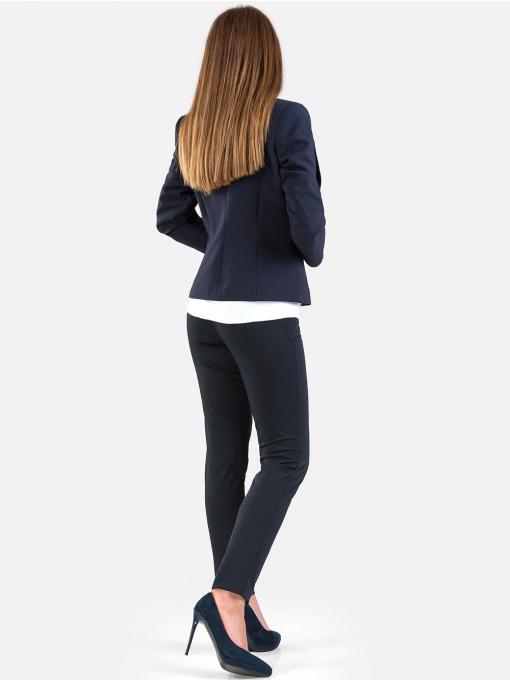 Елегантно дамско сако - тъмносиньо S016 INDIGO Fashion