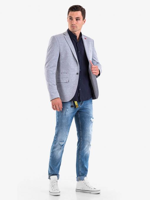 Светлосиво мъжко сако 31110 INDIGO Fashion