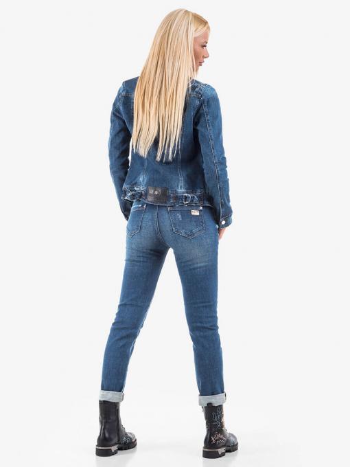 Късо дънково яке с накъсване 38842 INDIGO Fashion