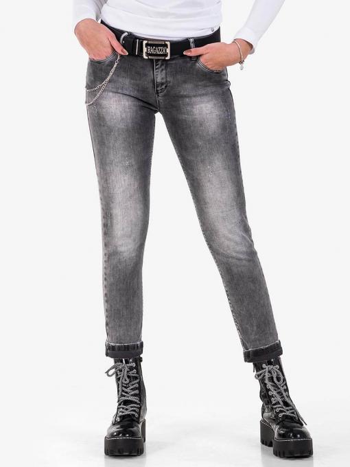 Дамски бойфренд дънки 5740-82 от Indigo Fashion 1