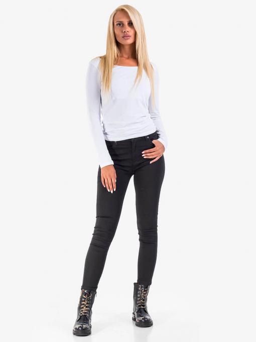Черни дамски слим фит дънки 5012 INDIGO Fashion