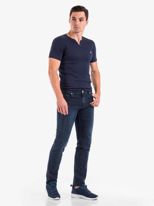Класически мъжки дънки - тъмен деним 5582 INDIGO Fashion