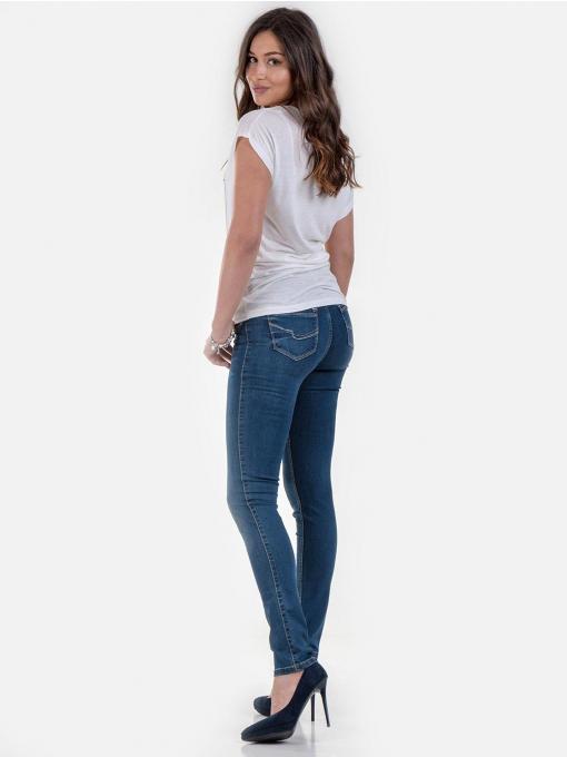 Дамски дънки - слим фит модел в цвят деним  B2621 INDIGO Fashion