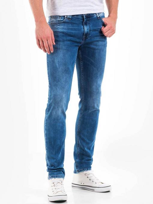 Мъжки слим фит дънки - цвят деним 3225 INDIGO Fashion