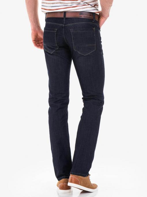 Мъжки дънки LACARINO 3413 с колан - INDIGO Fashion