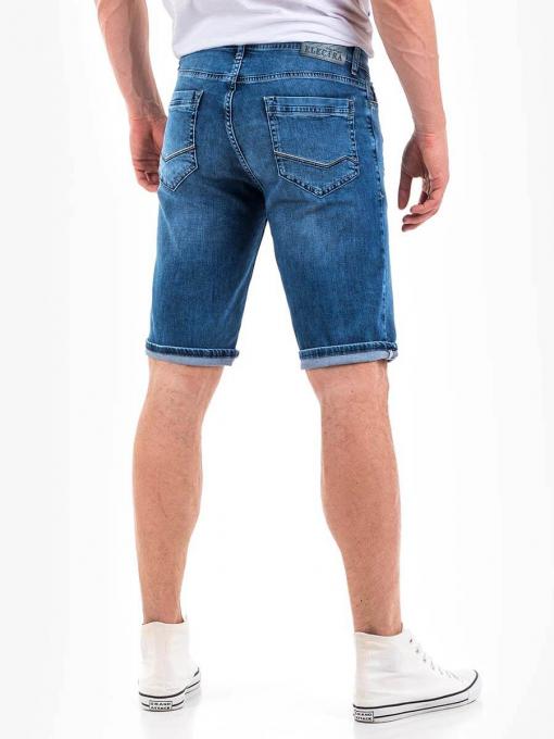 Мъжки прави дънкови бермуди - накъсани 15015 INDIGO Fashion