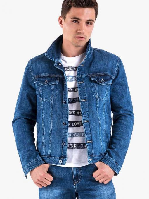 Класическо мъжко дънково яке - цвят деним 5373 INDIGO Fashion