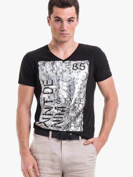 Мъжка тениска XINT 721 INDIGO Fashion