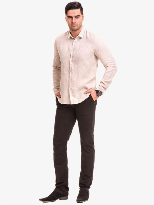 Мъжка ленена риза 478 INDIGO Fashion