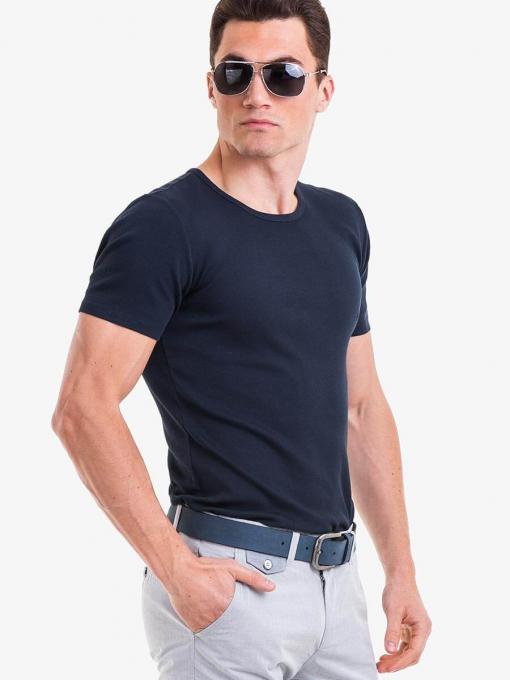 Мъжка тъмно синя тениска XINT 859 INDIGO Fashion