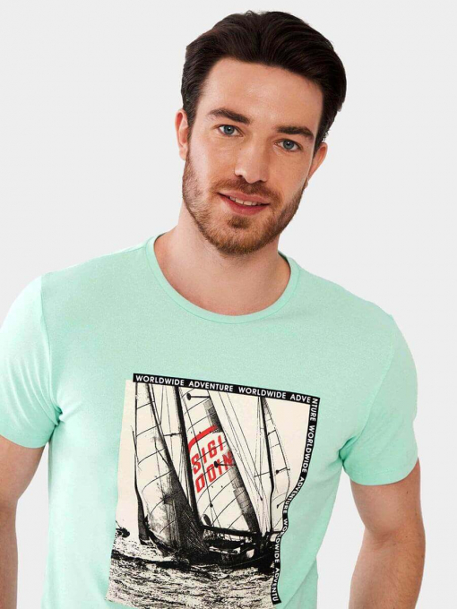 Мъжка тениска 35418-04 INDIGO Fashion