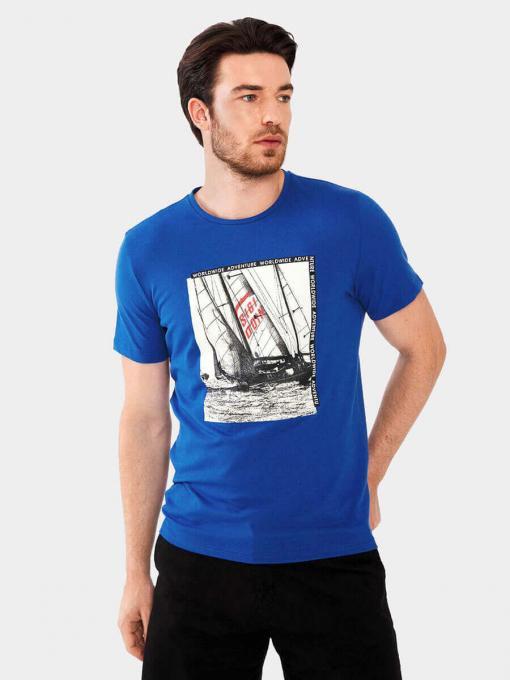 Мъжка тениска 35418-08  INDIGO Fashion