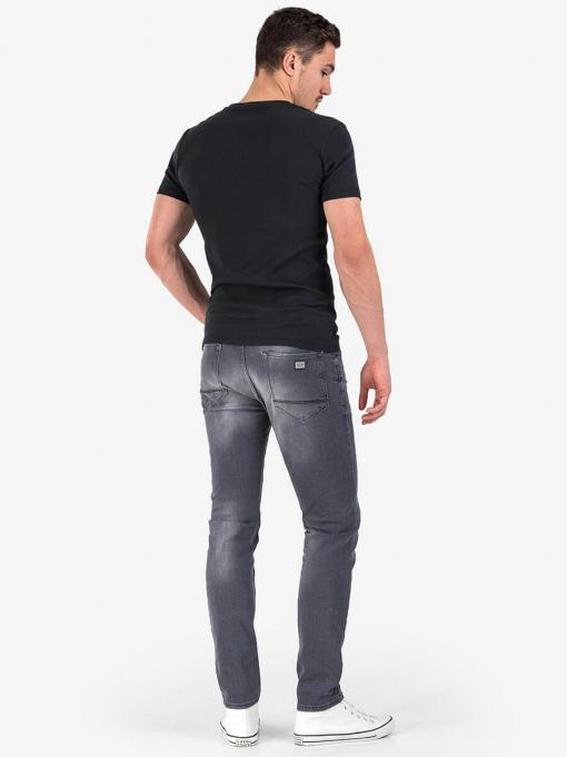 Сиви слим фит мъжки дънки 3181 INDIGO Fashion