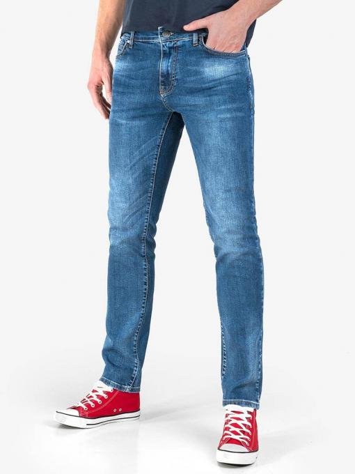 Мъжки прави дънки в цвят деним 9129 INDIGO Fashion