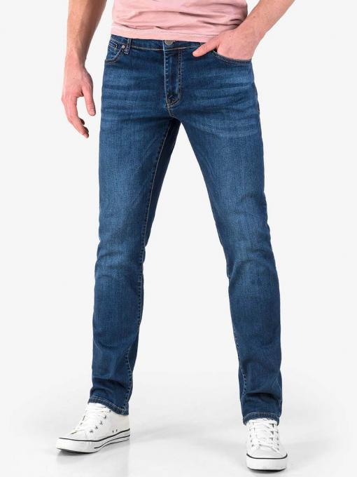 Мъжки прави дънки в тъмен деним 9129 INDIGO Fashion