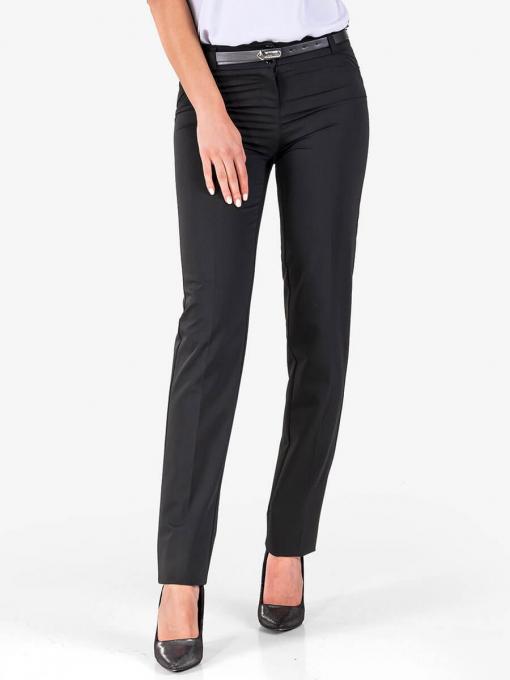 Класически черен панталон с колан 5920 INDIGO Fashion