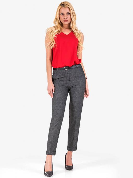 Дамски панталон в сив меланж 5948 INDIGO Fashion