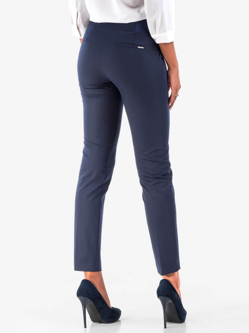 Дамски тъмносин панталон - големи размери B301N INDIGO Fashion