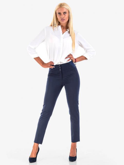 Дамски тъмносин елегантен панталон с ластик 301N INDIGO Fashion