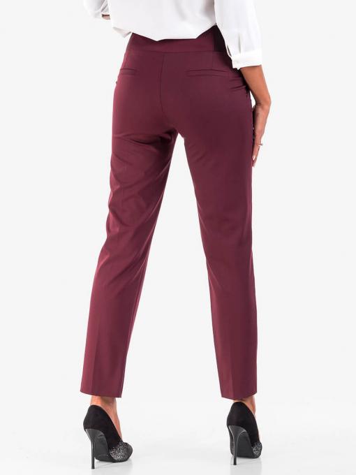 Дамски елегантен панталон - бордо - големи размери B301N INDOGO Fashion