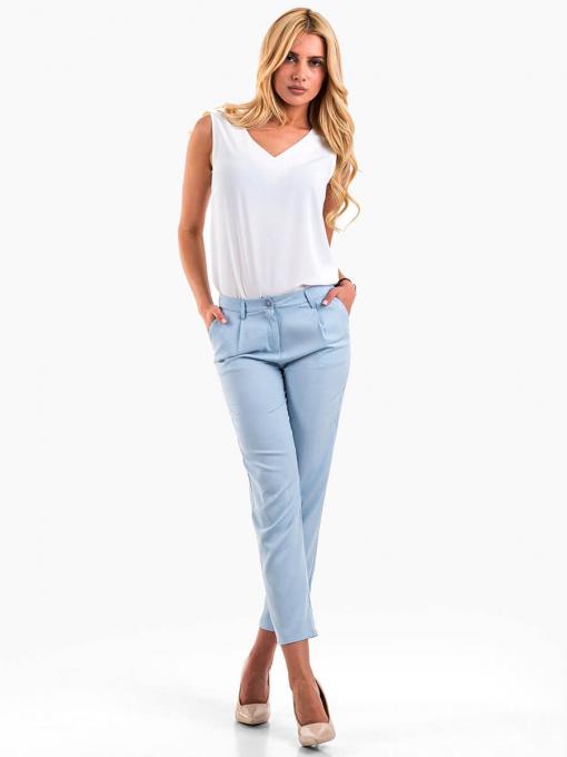 Дамски спортно-елегантен панталон - светлосин 200521 INDIGO Fashion