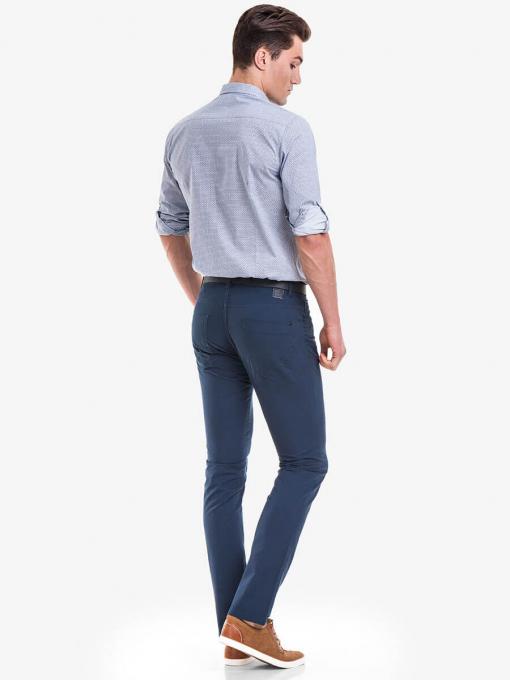Мъжки спортен панталон XINT 417 - тъмно син