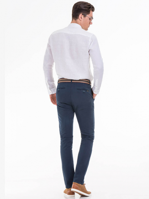 Мъжки спортен панталон XINT470 - тъмно син