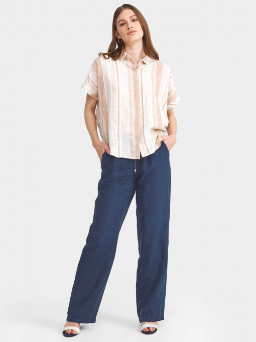 Ленен дамски панталон 200589-18 INDIGO Fashion