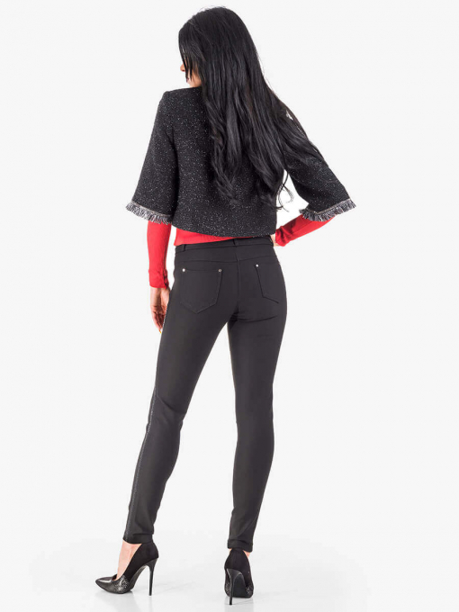 Черен дамски панталон тип клин 3349 INDIGO Fashion