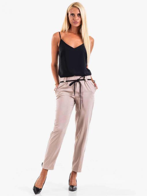 Летен дамски панталон - бежов 8934 INDIGO Fashion