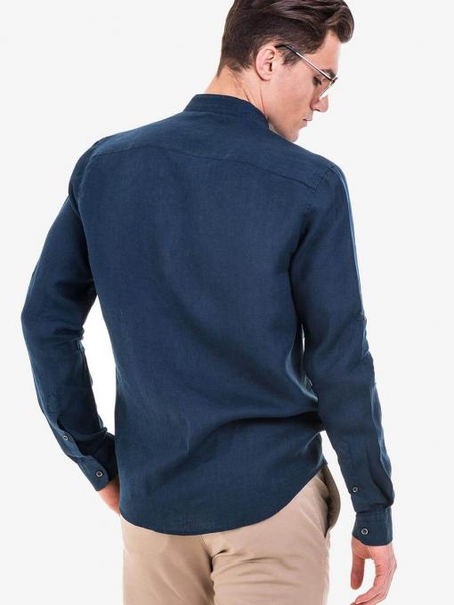 Мъжка риза  XINT 581 - тъмно синя