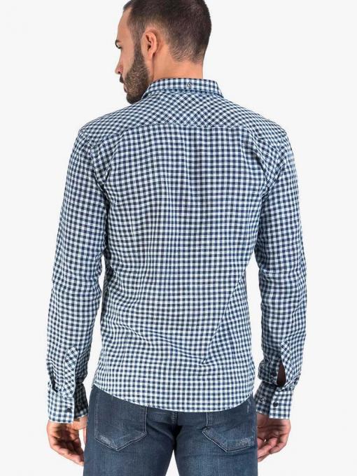 Карирана мъжка риза 8704 INDIGO Fashion