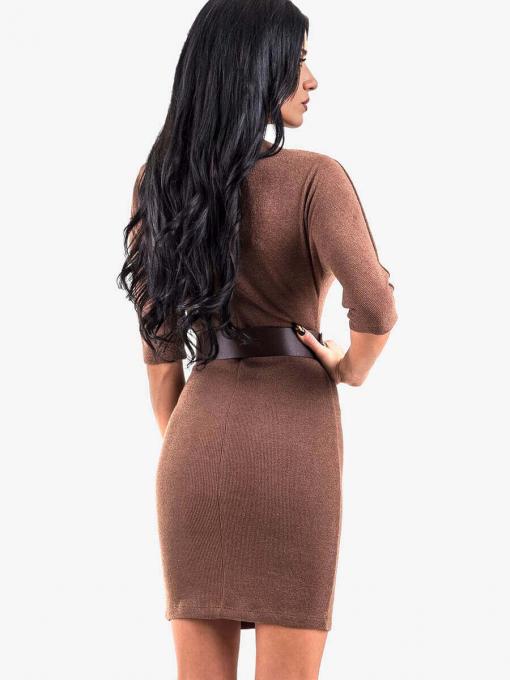 Вталена рокля 8267-28 INDIGO Fashion