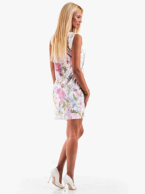 Памучна рокля на цветя - розова 20110 INDIGO Fashion