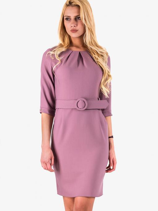 Вталена елегантна рокля - лилава 17165 INDIGO Fashion