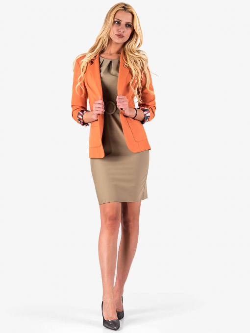 Дамско памучно оранжево сако 7029 INDIGO Fashion